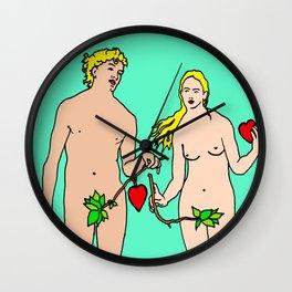 adam and eve modern art, art gifts for adults, classical pop art, Wall Clock
