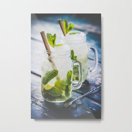 Mojito cocktail Metal Print