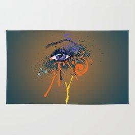 Grunge violet eye Rug