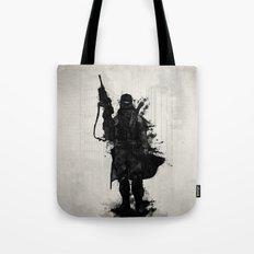 Post Apocalyptic Warrior Tote Bag
