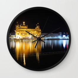 Night View of Golden Temple, Amritsar Wall Clock