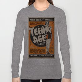 Vintage poster - Teen Age Long Sleeve T-shirt