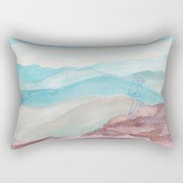 mountain climbing Rectangular Pillow