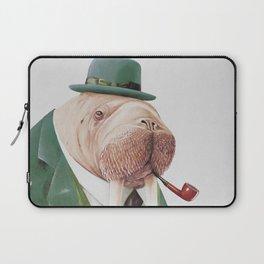 Walrus Green Laptop Sleeve