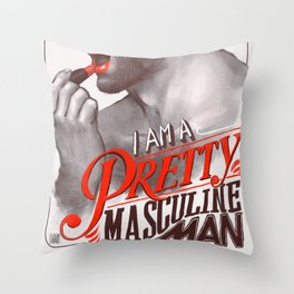 Pretty Masculine Throw Pillow