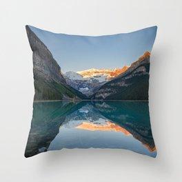 Lake Louise Sunrise Reflection Canadian Rockies Banff National Park Landscape  Throw Pillow