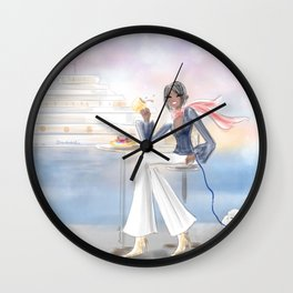 Cafe By The Sea Wall Clock