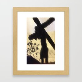 Carrying my Cross (Color) Framed Art Print