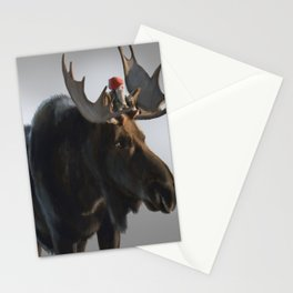 Winter Gnome on Moose Stationery Cards