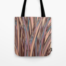 LYON pink peach turquoise brown glowing tall grass Tote Bag