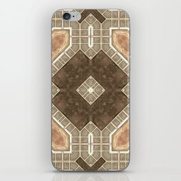 Victorian Art Deco Medieval Pattern brown SB28 iPhone Skin