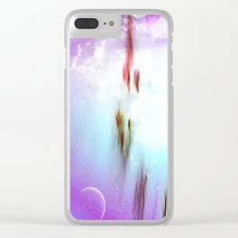 Pastel moon Clear iPhone Case
