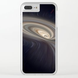 Feather Galaxy Clear iPhone Case