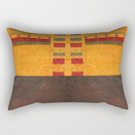 N68 - Oriental Traditional Moroccan Style with Original Leather Cover Artwork Rectangular Pillow