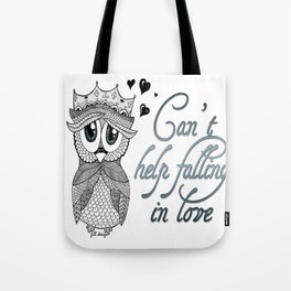 Flirtatious Owl Tote Bag