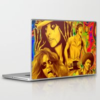 springsteen Laptop & iPad Skins featuring The Seventies 1970's Alice Cooper, Jackson, Springsteen, Aerosmith by Storm Media