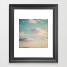 An endless affair with the upper atmosphere Framed Art Print