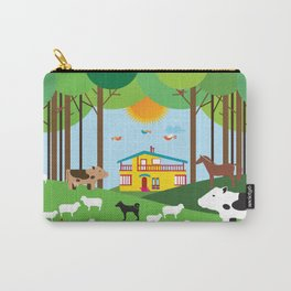 Farm in the forest  Carry-All Pouch