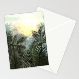 Jungle pampa forest. Tropical green forest with palms Stationery Cards