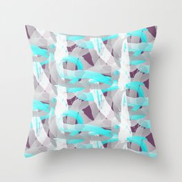Out of the blue pattern Throw Pillow