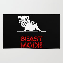Beast Mode English Bulldog Rug