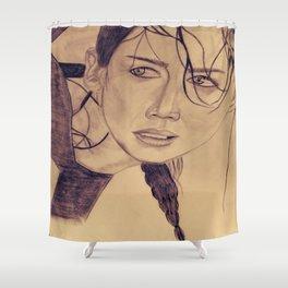 Katniss Everdeen Shower Curtain