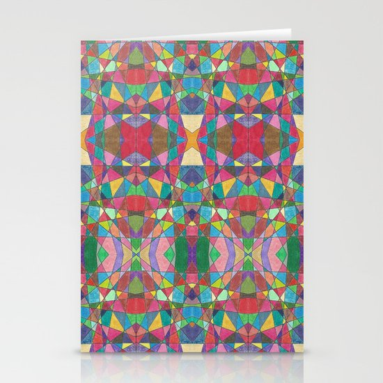 Criss Cross Colorful Stationery Cards