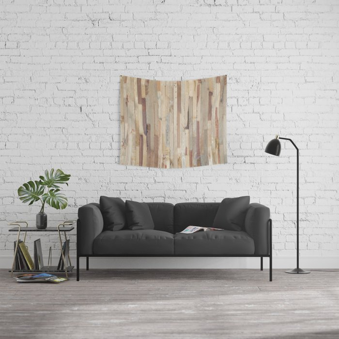 Wood Planks Wall Tapestry