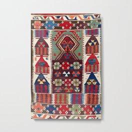 Sivrihisar Anatolian Niche Kilim Print Metal Print