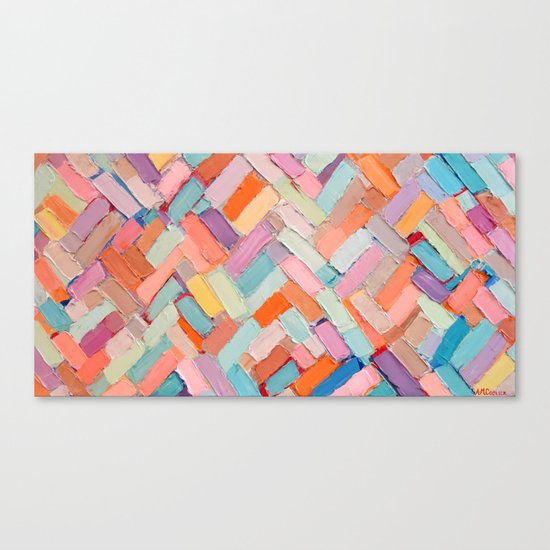 Hot Pink Internodes Canvas Print