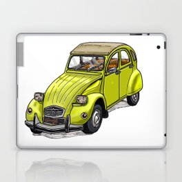 Yellow 2CV Laptop & iPad Skin