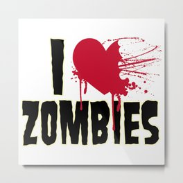 t-shirt with zombie love stamp Metal Print
