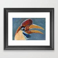 Greater Sulawesi Hornbill AQ30 Framed Art Print