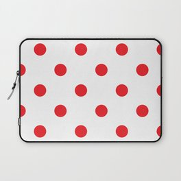 Polka dot fabric Retro vector background or pattern Laptop Sleeve