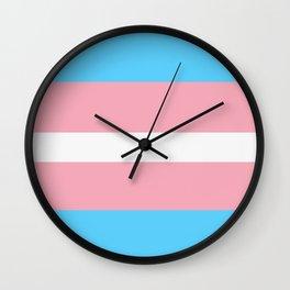 Transgender pride flag Wall Clock