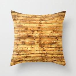 Grunge Rustic Wood pattern Throw Pillow