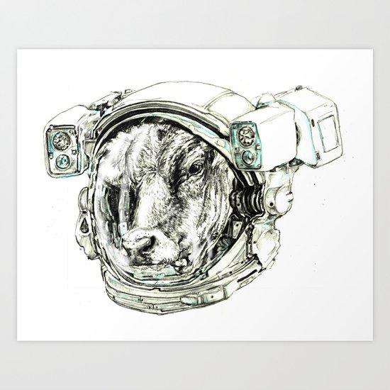 The Cow astronaut Art Print