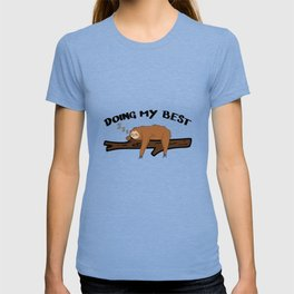 Sloth Chilling Sleeping Work Office Lazy T-shirt