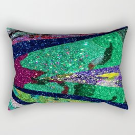 Holiday Mermaid Peacock Rectangular Pillow