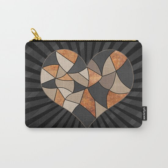 Heart . Patchwork . Carry-All Pouch