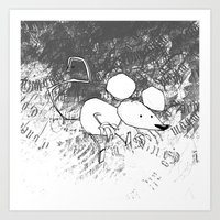 minima - deco mouse Art Print