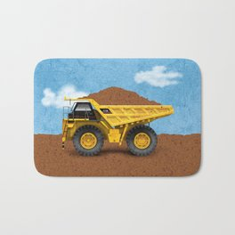 Construction Dump Truck Bath Mat