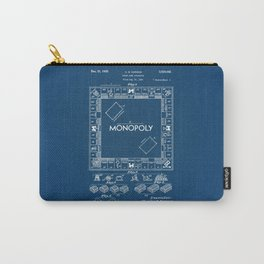 Monopoly blue Patent Carry-All Pouch