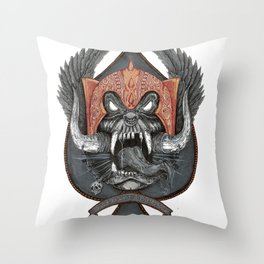 Motorhead Warpig Crest Throw Pillow