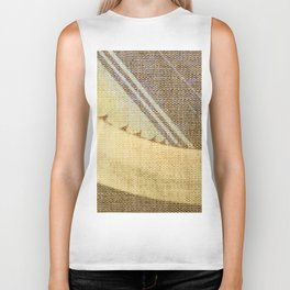 Agave Cactus on burlap cloth Biker Tank