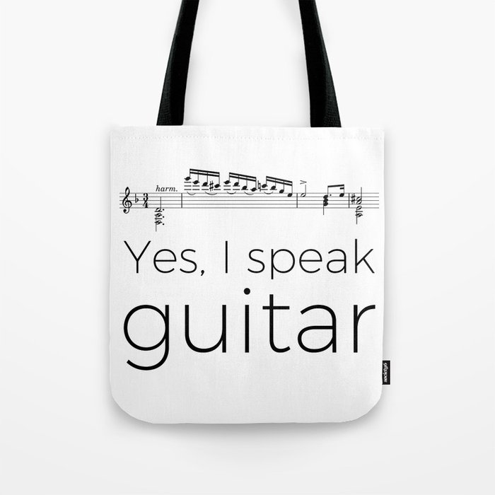 I speak guitar Tote Bag