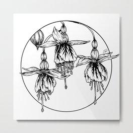 Fuschia Metal Print