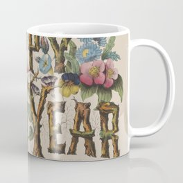 Vintage Happy New Year Illustration (1876) Coffee Mug