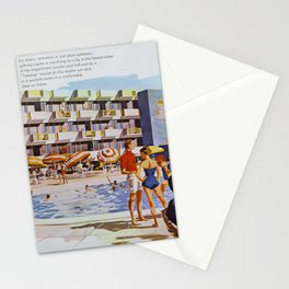 1950's Retro Hotel Wildwood Rendering,  Wildwood, New Jersey Stationery Cards