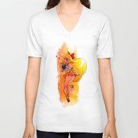 sailor venus V-neck T-shirts featuring Sailor Venus by Peach Mork